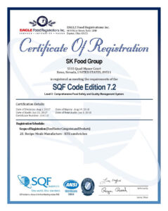 SQF Certification - Reno