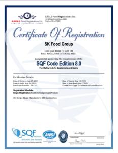 SQF certificate March 2020